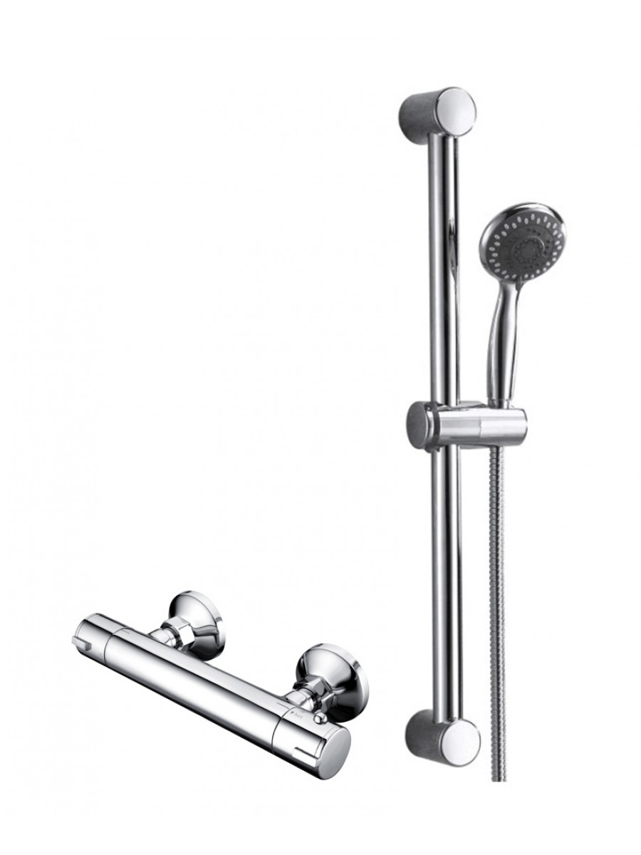 JAY T-Bar Shower Valve & Round Slide Rail Kit