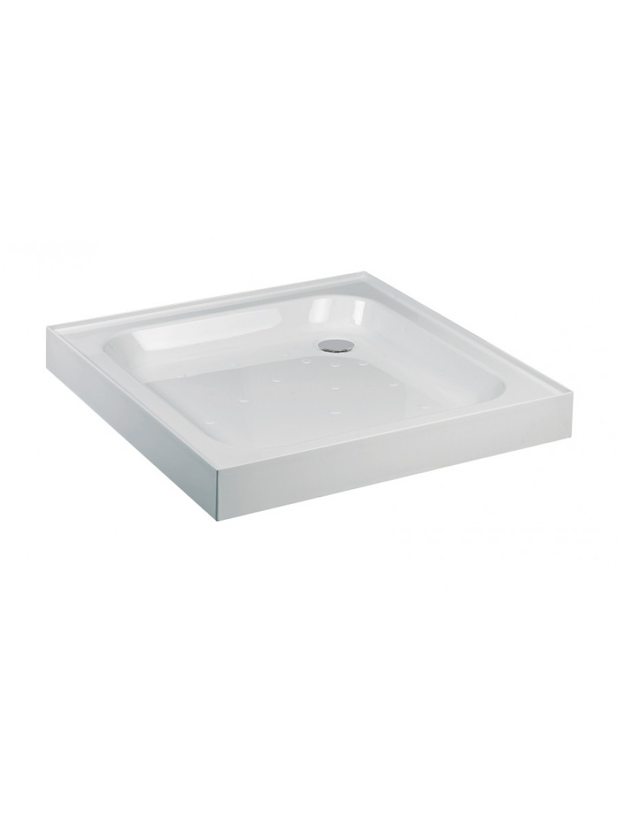 Kristal Low Profile 760Square 4 Upstand Shower Tray  with FREE shower waste