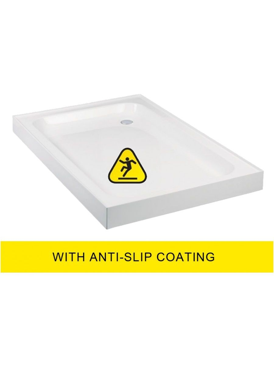 JT Ultracast 1200x800 Rectangle Upstand Shower Tray - Anti Slip