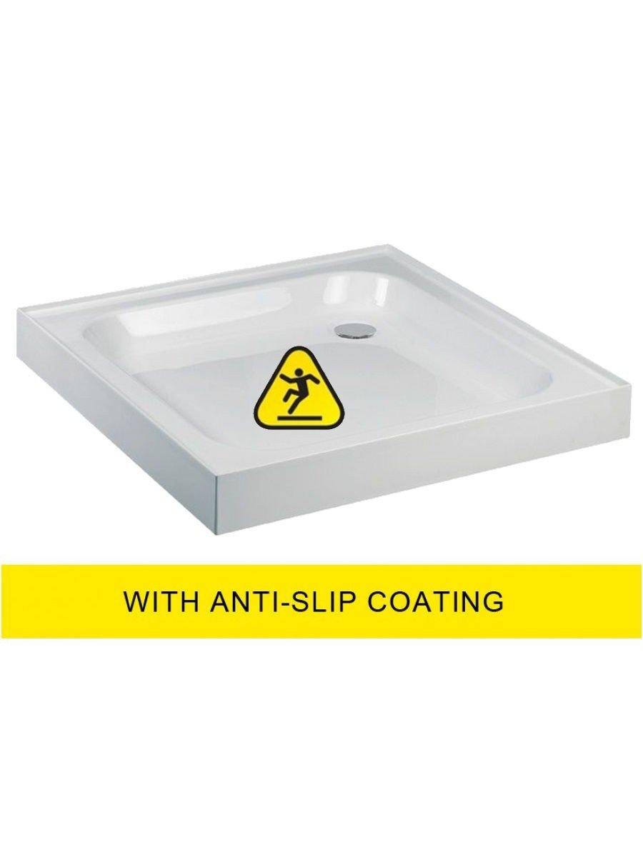 JT Ultracast 1000 Square Shower Tray with Upstand - Anti Slip