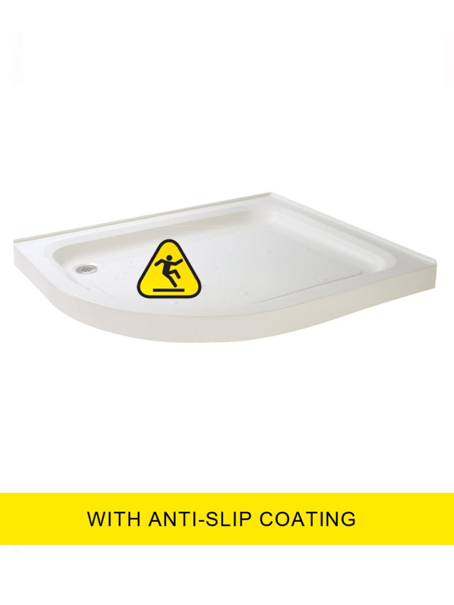 JT Ultracast  1200X800 Offset Quad Upstand Shower Tray -LH - Anti Slip