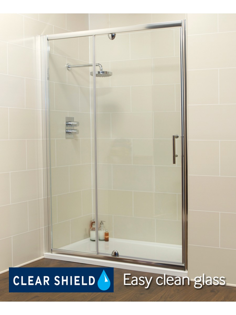 K2 1100 Pivot Shower Door & Inline Shower Enclosure - Adjustment 1060-1120mm