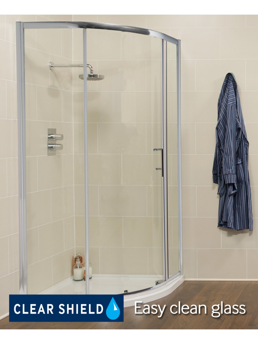 K2 900mm single door quadrant door k2 range all shower for Door quadrant