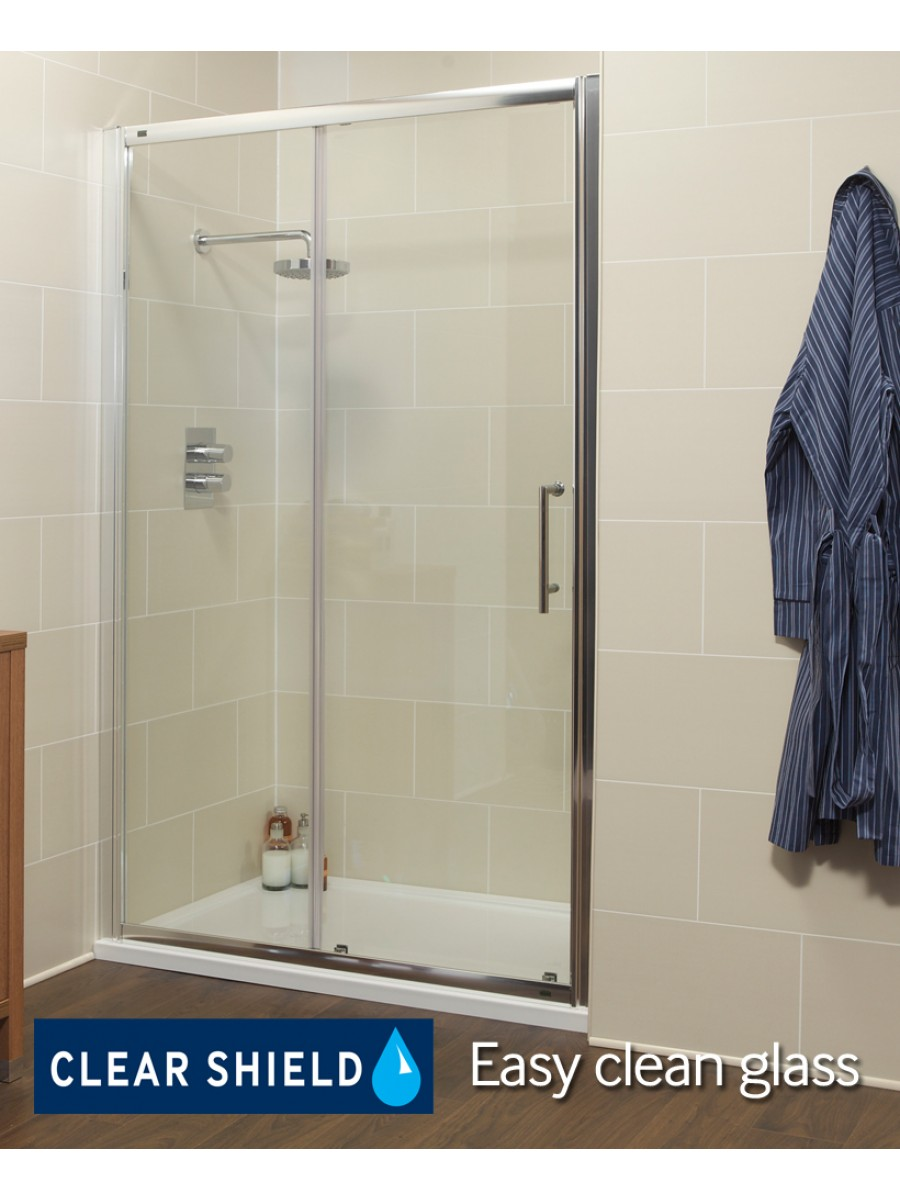 K2 1100mm Sliding Shower Door - Adjustment 1060 -1120mm