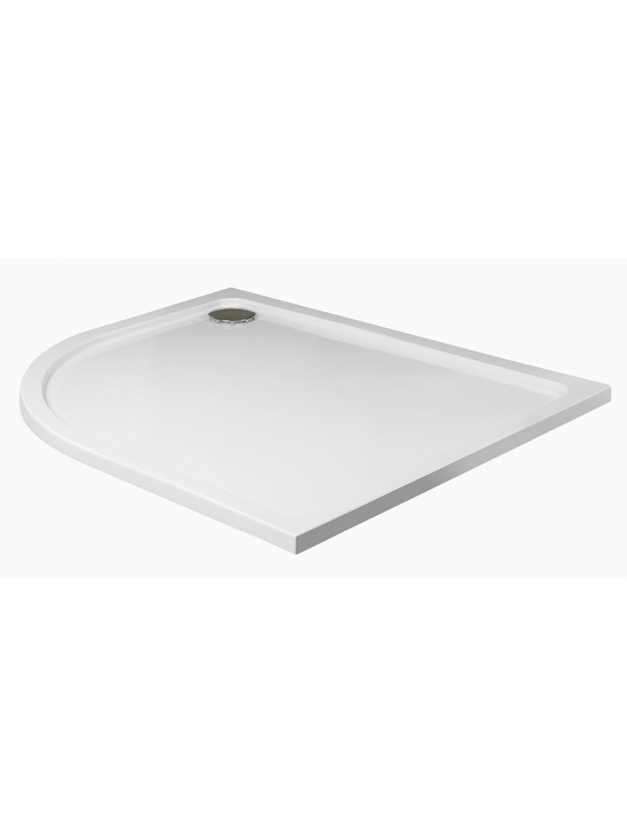 Kristal Low Profile 1000x800 Offset Quadrant Shower Tray LH with FREE shower waste