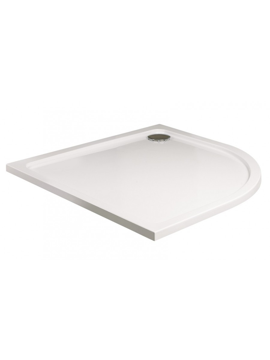 Kristal Low Profile 900 Quadrant Shower Tray with FREE shower waste