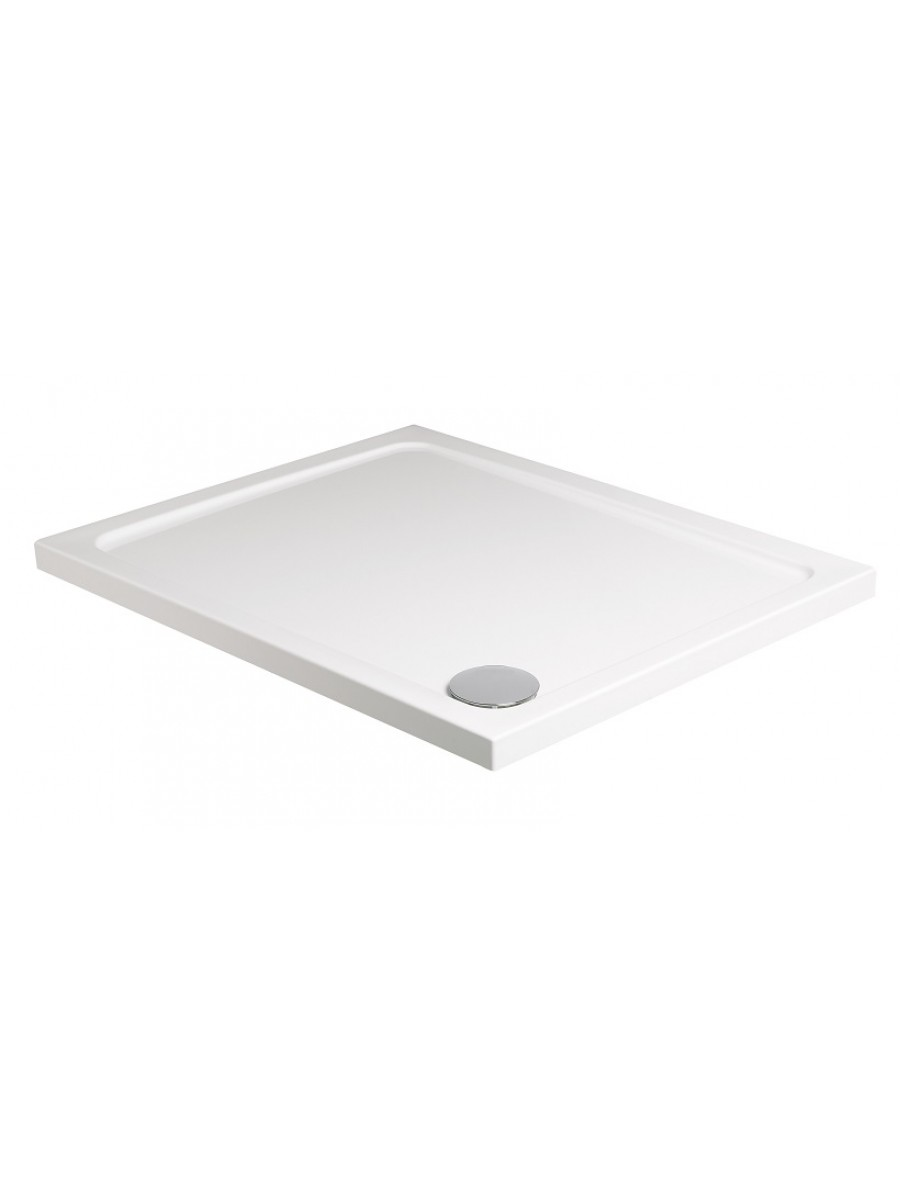 Kristal Low Profile 900x800 Rectangle Shower Tray with FREE shower waste