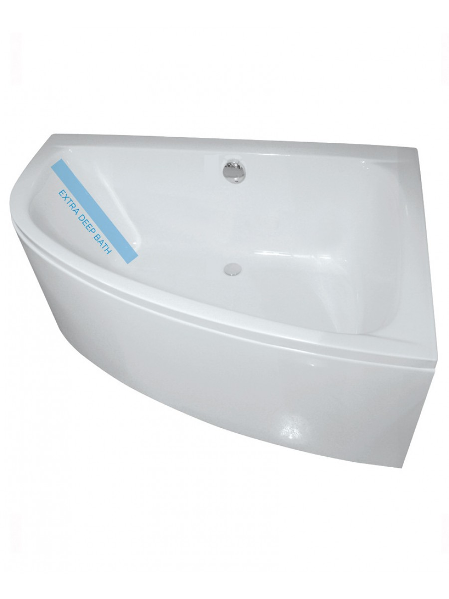 Maya 1500 x 1000mm Offset Corner Bath Right Hand & Bath Panel