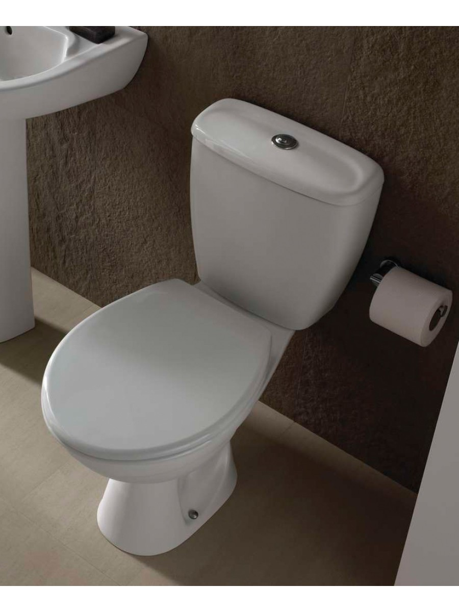 Twyford Option Close Coupled Toilet & Seat