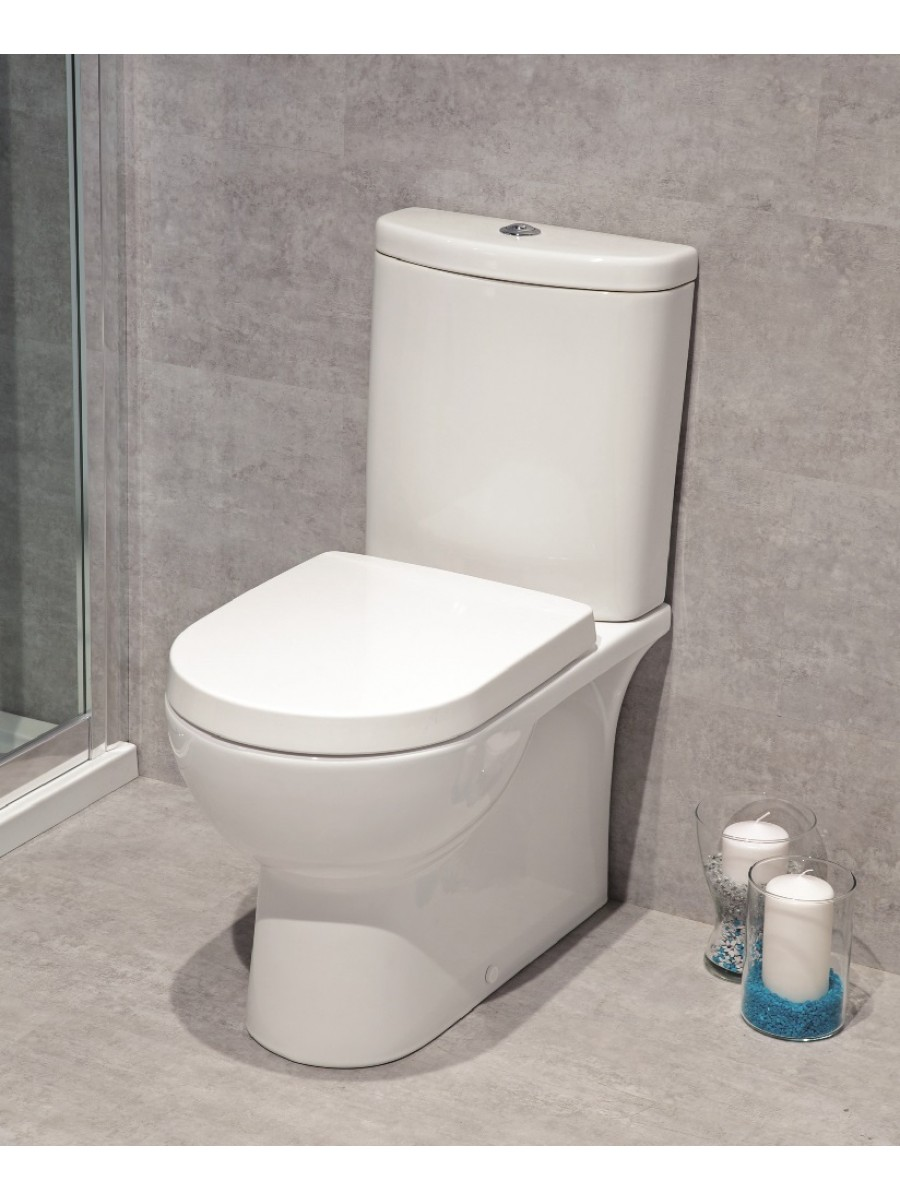 Perth Fully Shrouded Toilet and Soft Close Seat - Multi Outlet