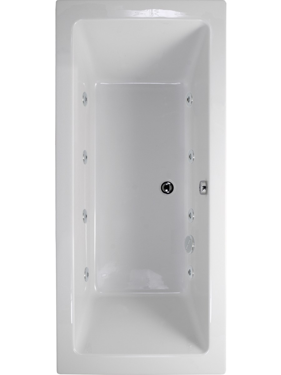 Plane 1700x700 Double Ended 8 Jet Whirlpool Bath - Extra Deep