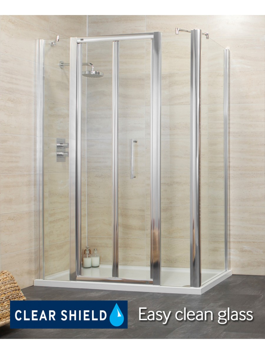 Revive 1500 Bifold Shower Enclosure with Two Infill Panel and Side Panel