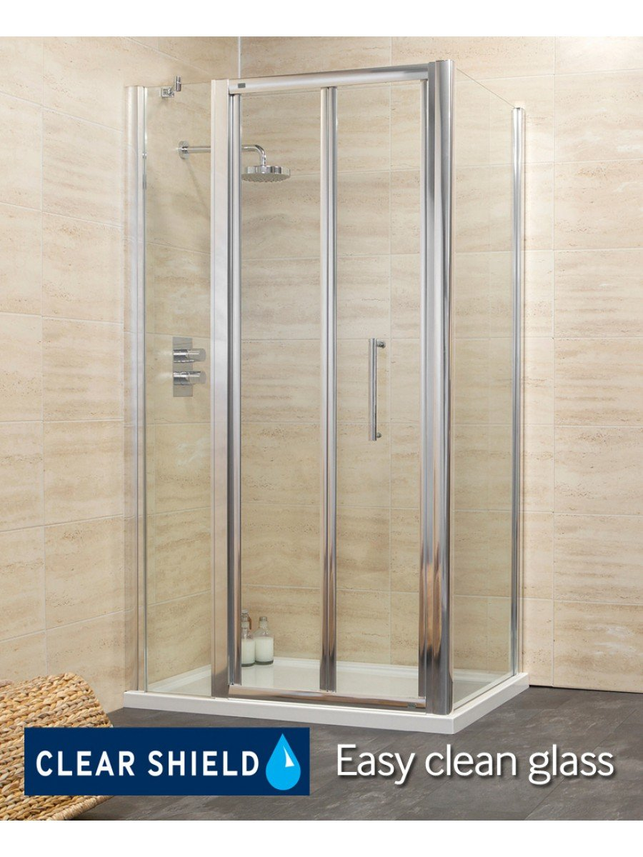 Revive 1000 Bifold Shower Enclosure with Single Infill Panel and Side Panel