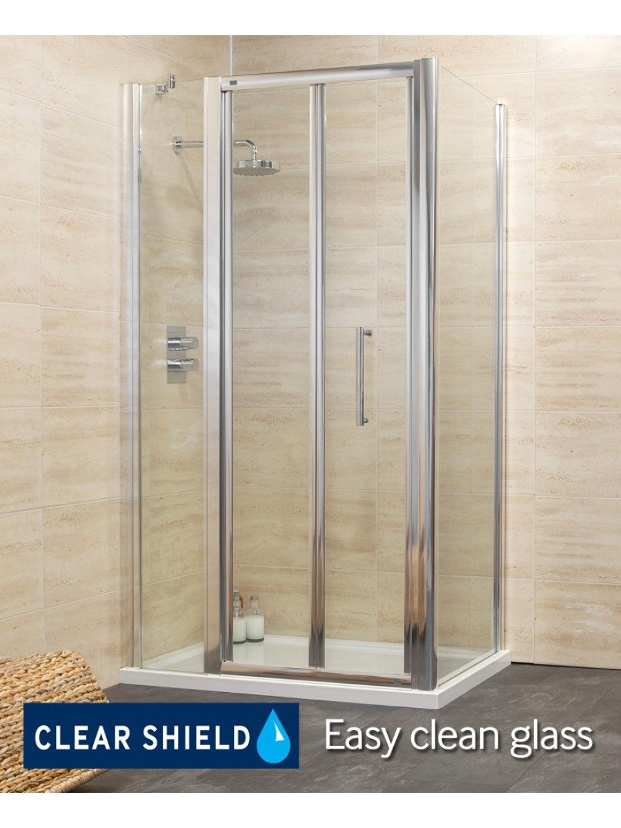 Revive 1300 Bifold Shower Enclosure with Single Infill Panel and Side Panel