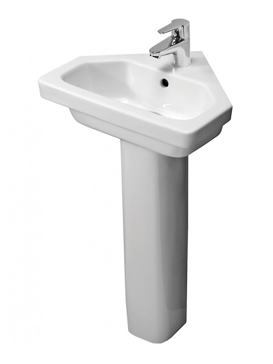 Corner Basin With Pedestal : Resort 450 Corner Basin & Standard Height Pedestal