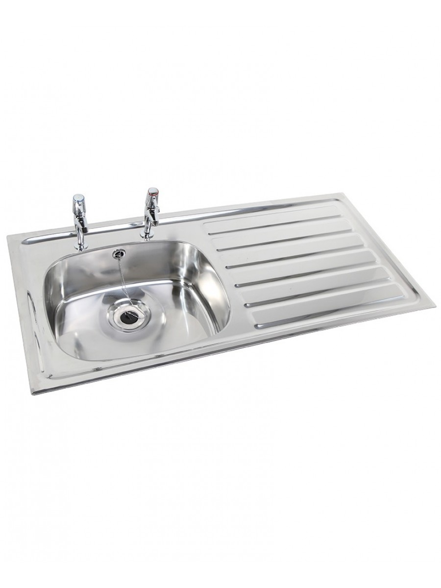 Ibiza HTM64 Inset Hospital Sink Deep Bowl 1028x500mm Right hand Drainer