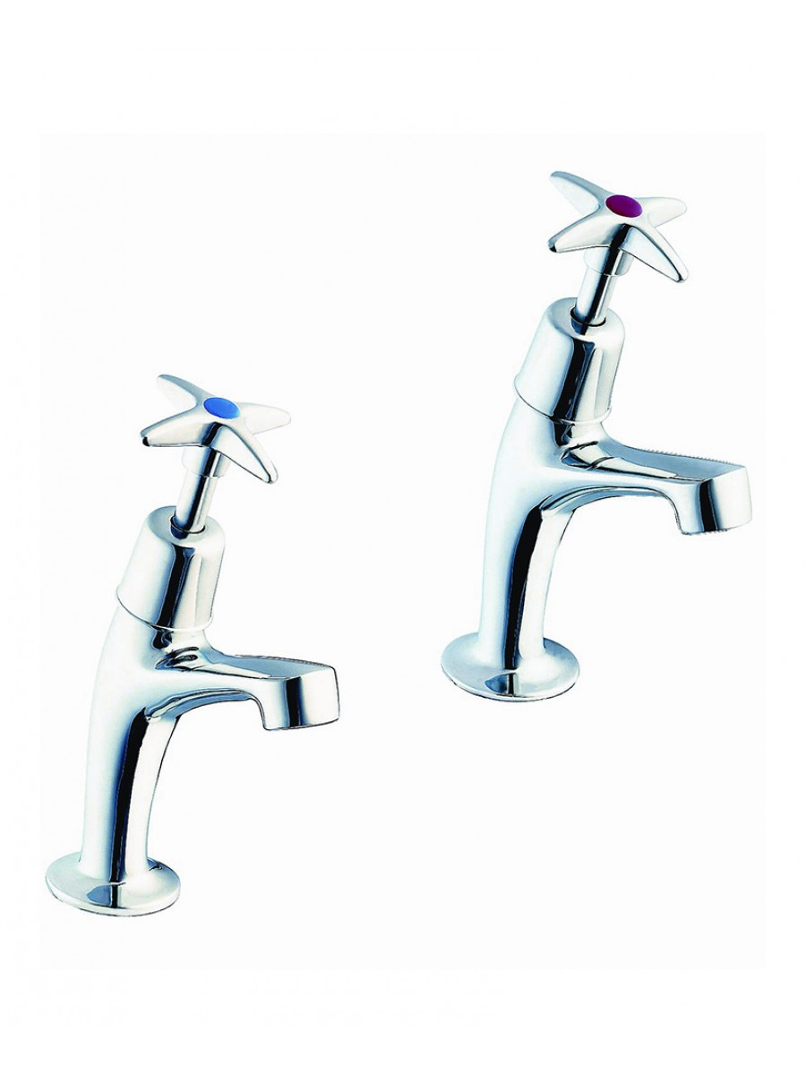 Sola High Neck Cross Head Basin Taps