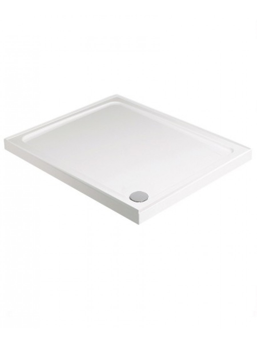 Kristal Low Profile 800 Square 4 Upstand Shower Tray with FREE shower waste