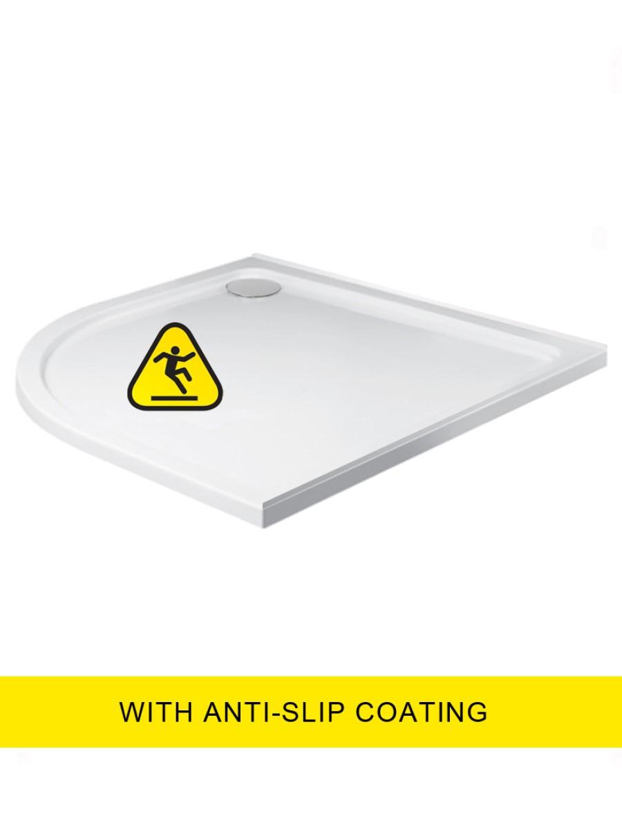 Kristal Low Profile  1000X800 Quadrant LH Shower Tray -Anti Slip with FREE shower waste