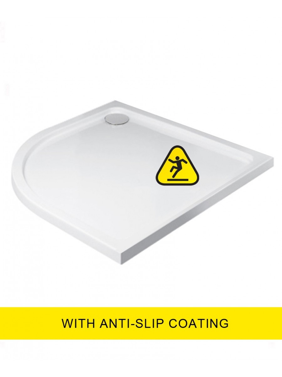 Kristal Low Profile 1200X900 Quadrant LH Shower Tray - Anti Slip  with FREE shower waste