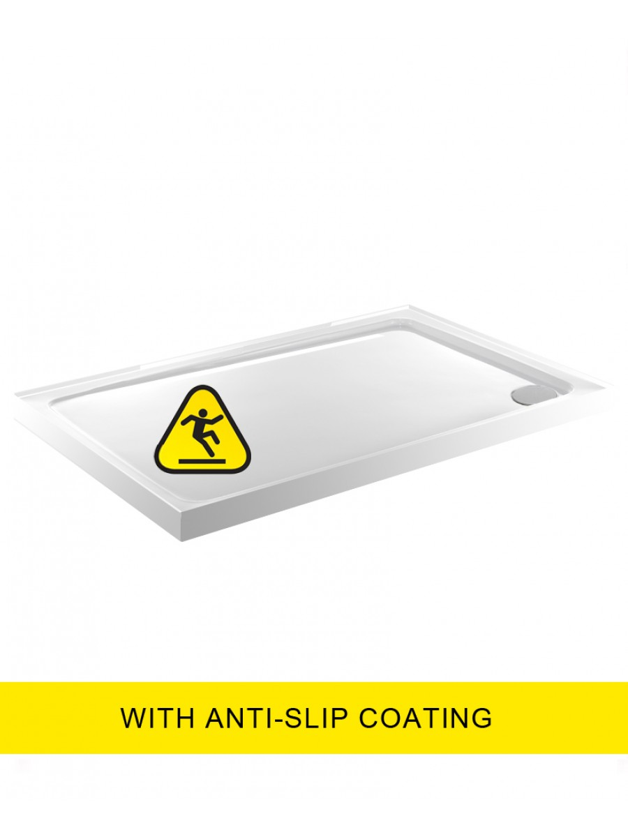 Kristal Low Profile 1600X800 Rectangle Upstand Shower Tray - Anti Slip  with FREE shower waste
