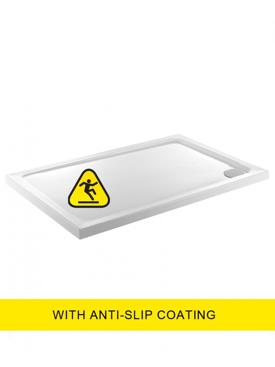 Kristal Low Profile 1100x800 Rectangle Shower Tray -Anti Slip  with FREE shower waste