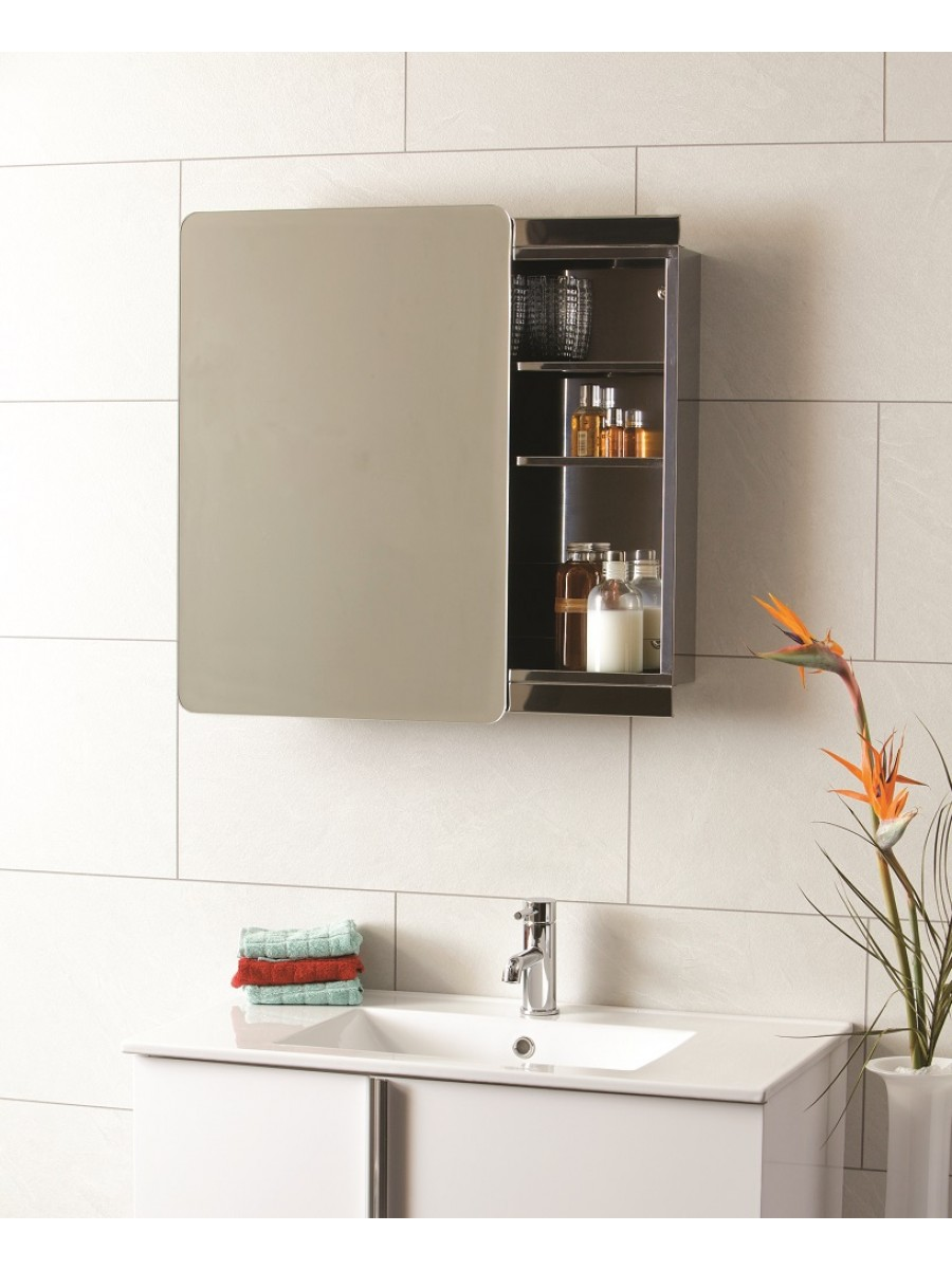 stilo sliding door mirror cabinet 460 x 660 bathroom