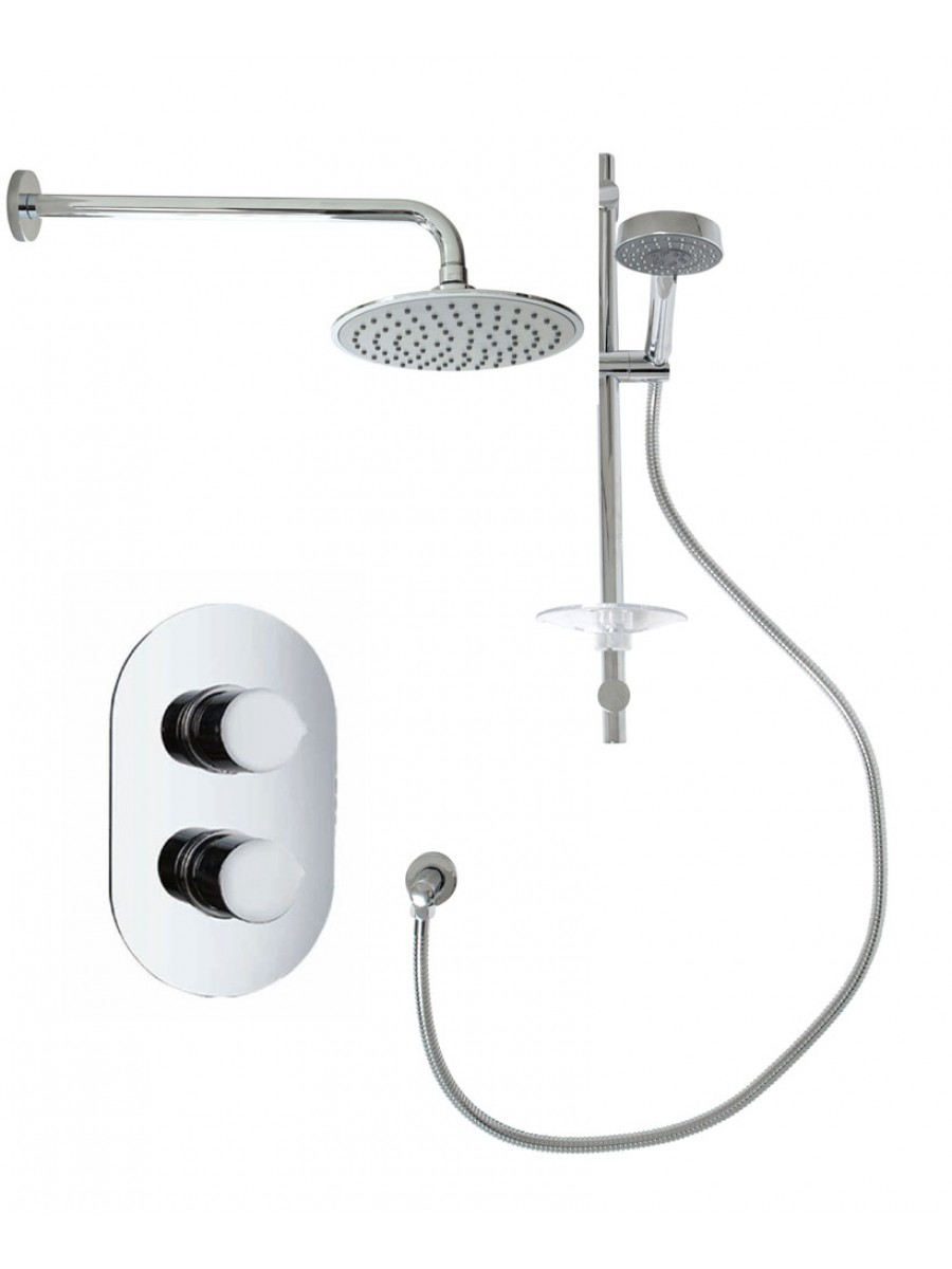 Tristan Oval Thermostatic Shower Kit G