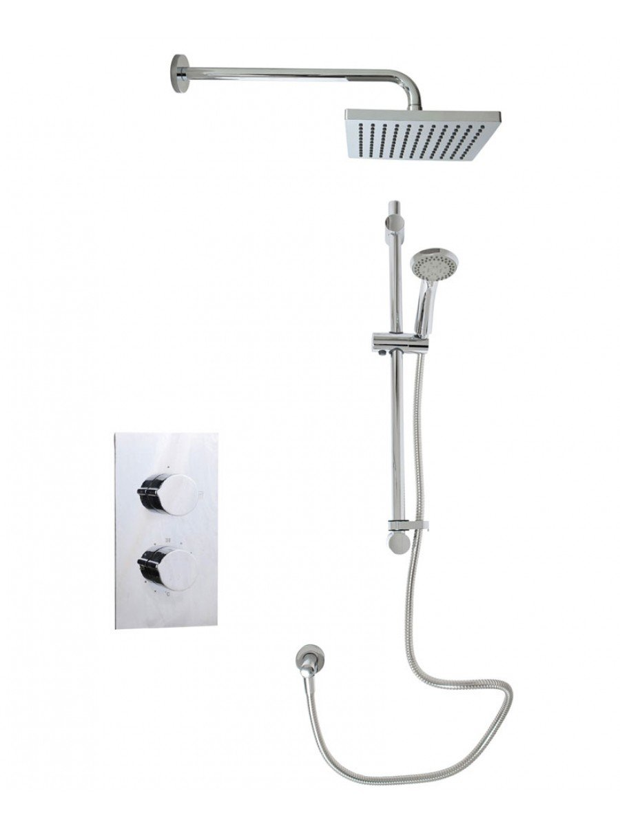 Tristan Rectangle Thermostatic Shower Kit A