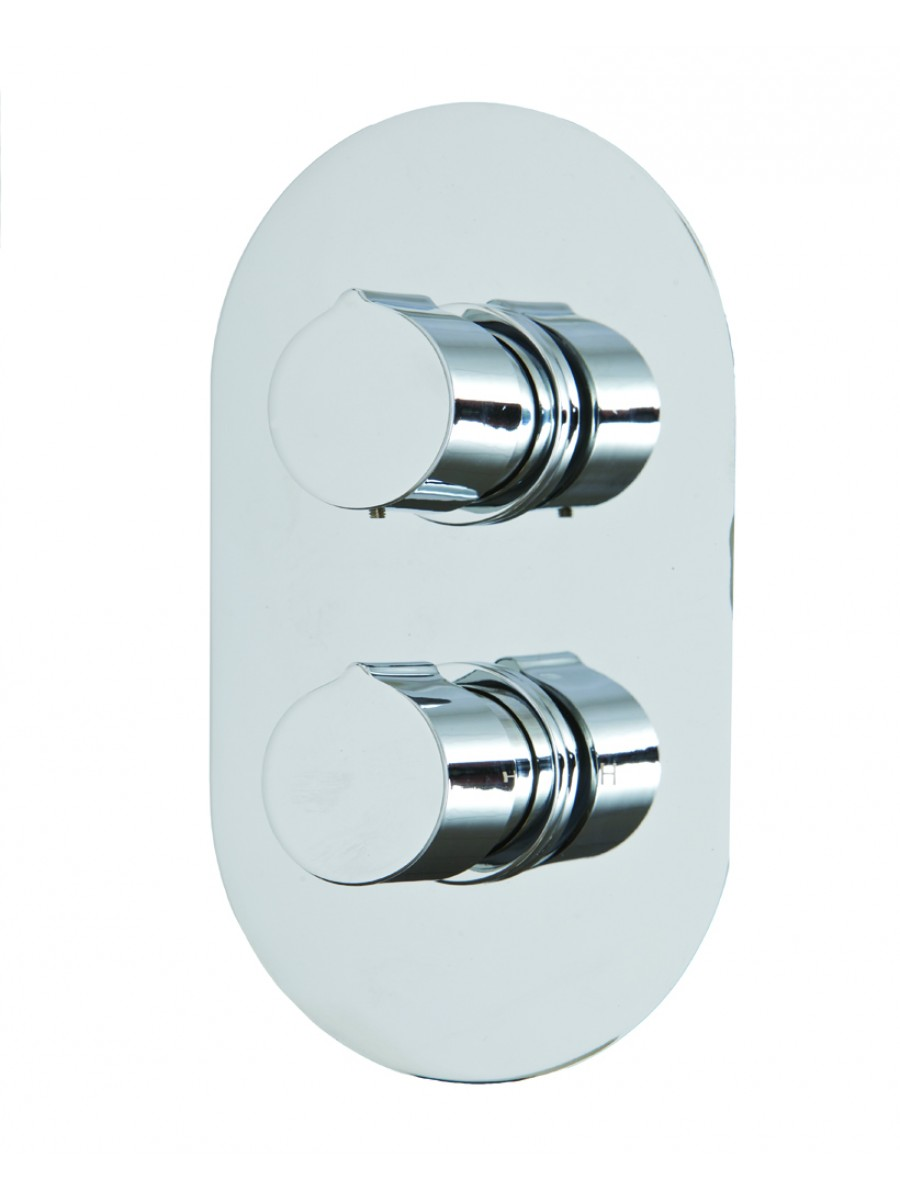 Tristan Thermostatic Shower Valve Oval with Diverter