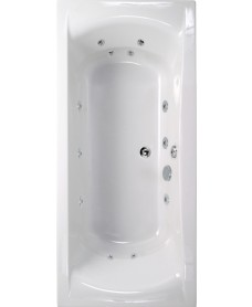 Arena 1800x800 Double Ended 12 Jet Whirlpool Bath
