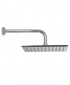 Arva Square 250 Shower Head & 300mm Round Wall Shower Arm