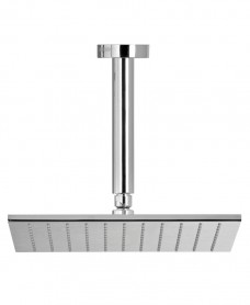 Arva Square 200 Shower Head & 200mm Round Ceiling Shower Arm