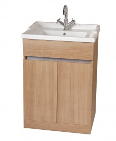 Athens Oak 60cm Vanity Unit & Victoria Washbasin - * Special Offer includes Choice of Tap