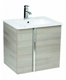 Avila Sandy Grey 60cm Wall Hung Vanity Unit 2 Door & Basin