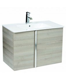 Avila Sandy Grey 80cm Wall Hung Vanity Unit 2 Door & Basin