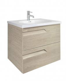 Brava Maple 60cm Vanity Unit 2 Drawer and Idea Basin