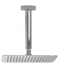 Cari Square 200mm Shower Head & 200mm Ceiling Shower Arm