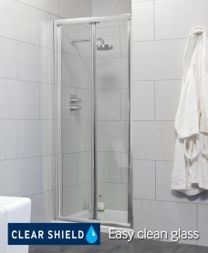 City 900 Bifold Shower Door - Adjustment 840-890mm - Special Offer* - includes Shower Tray and Waste