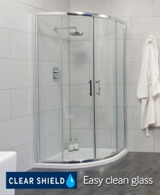 City 900 Quadrant Shower Enclosure - Adjustment 865-890mm - Special Offer* - includes Shower Tray and Waste
