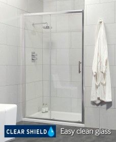 City 1000 Sliding Shower Door - Adjustment 940-990mm - Special Offer* - includes Shower Tray and Waste