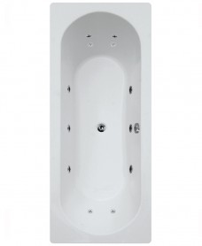 Clover 1800 x 800 Double Ended 8 Jet Whirlpool Bath - Special Offer* - with a Choice of Bath Shower Mixer
