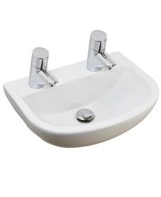 Compact Medical 500 Washbasin 2 Tap Hole