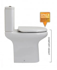 Compact Close Coupled Toilet & Soft Close Seat - Comfort Height - *Special Offer