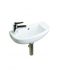 Compact Slimline Basin 45cm Left Hand with Choice of  Tap- * Special Offer