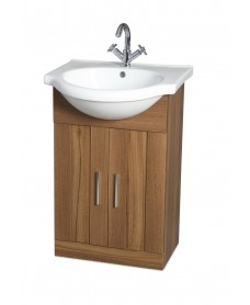 Oslo Walnut 55cm Vanity Unit & Basin