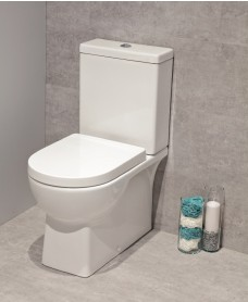 Denver Fully Shrouded Toilet and Soft Close Seat - multi outlet - Special Offer