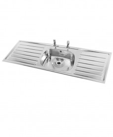 Ibiza HTM64 Inset Hospital Sink 1364x500mm Single Bowl Double Drainer