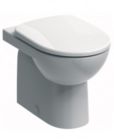 E100 Round Back To Wall Toilet & Standard Seat