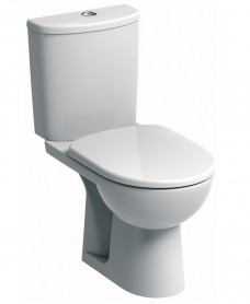 E100 Round Standard Close Coupled Toilet & Standard Seat - Special Offer